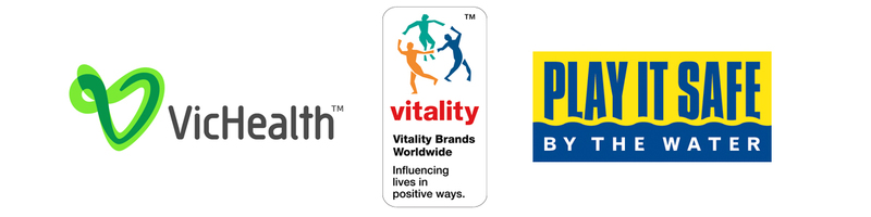Victorian Indigenous Surfing Program Partners - Vitality Brands, VicHealth, Play it Safe by the Water