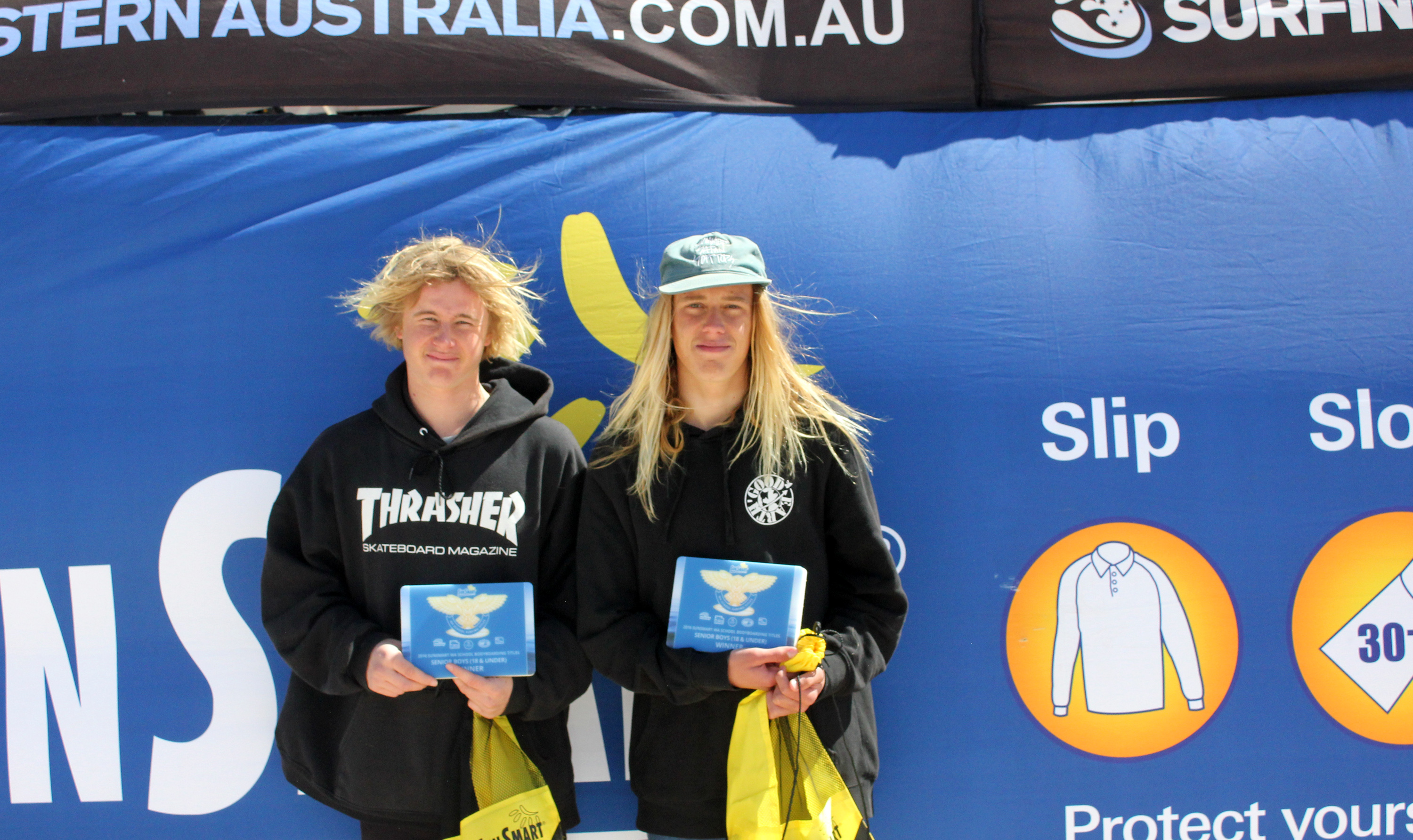 Senior Boys Bodyboard Winners   Geraldton Senior Majeks