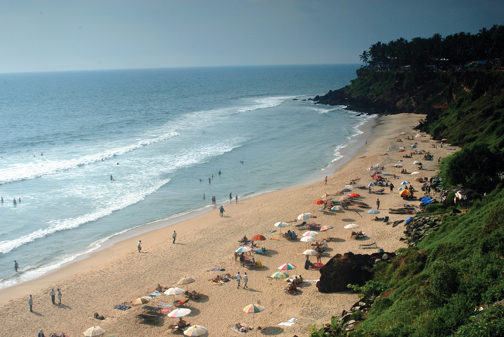 Varkala Beach Overlooked By Cliffs